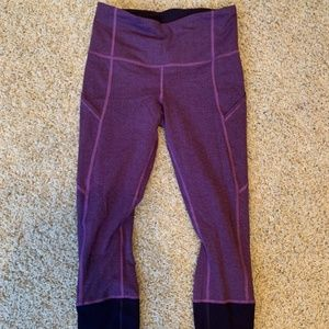 Lululemon High Waisted Crop Leggings